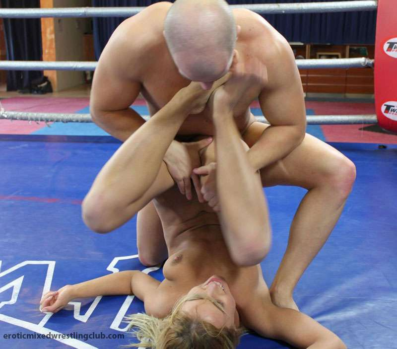 Men wrestling women naked